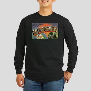 Greetings from Florida Long Sleeve Dark T-Shirt