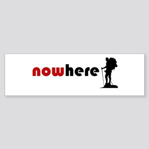 Nowhere (hiker) Bumper Sticker