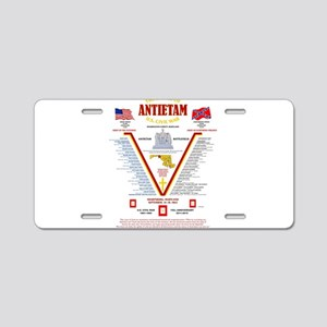 U.S. CIVIL WAR BATTLE OF AN Aluminum License Plate