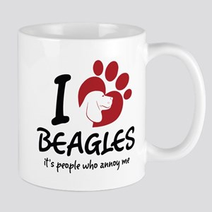 I Love Beagles It's People Who Annoy Me Mugs