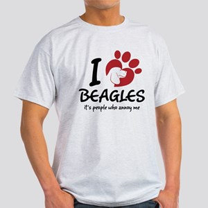 I Love Beagles It's People Who Annoy Me T-Shirt