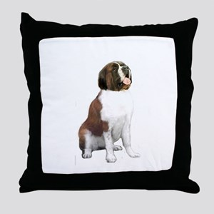 St Bernard #1 Throw Pillow