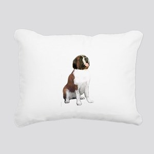 St Bernard #1 Rectangular Canvas Pillow