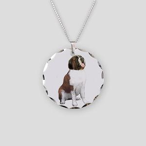 St Bernard #1 Necklace Circle Charm