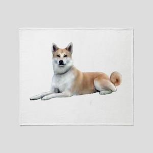 Akita Inu (liedown) Throw Blanket