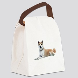 Akita Inu (liedown) Canvas Lunch Bag