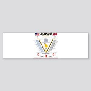 CHICKAMAUGA, GA UNITED STATES CIVIL Bumper Sticker