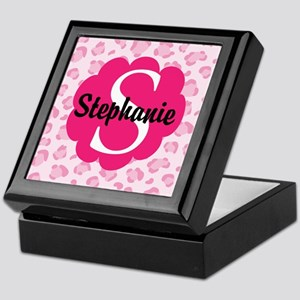Personalized Pink Name Monogram Gift Keepsake Box