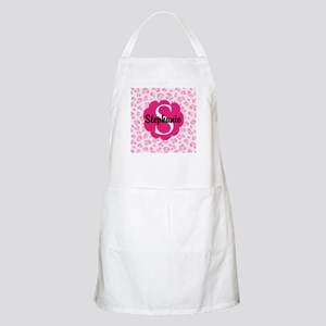 Personalized Pink Name Monogram Gift Apron