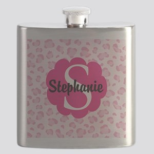 Personalized Pink Name Monogram Gift Flask