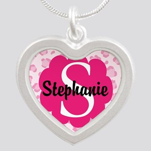 Personalized Pink Name Monogram Gift Necklaces