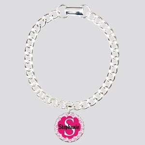 Personalized Pink Name Monogram Gift Bracelet