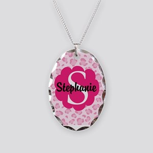 Personalized Pink Name Monogram Gift Necklace