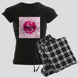 Personalized Pink Name Monogram Gift Pajamas