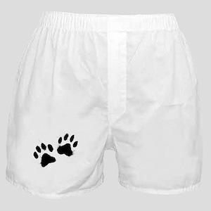 Pair Of Black Paw Boxer Shorts