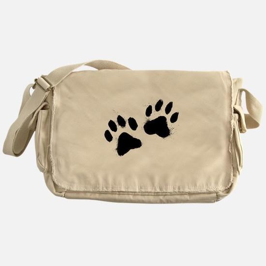 Pair Of Black Paw Messenger Bag