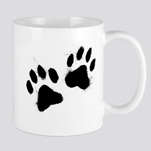Pair Of Black Paw Mugs