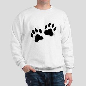 Pair Of Black Paw Sweatshirt