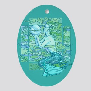 Pisces Seas Ornament (Oval)