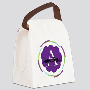 Personalized Name Monogram Gift Canvas Lunch Bag