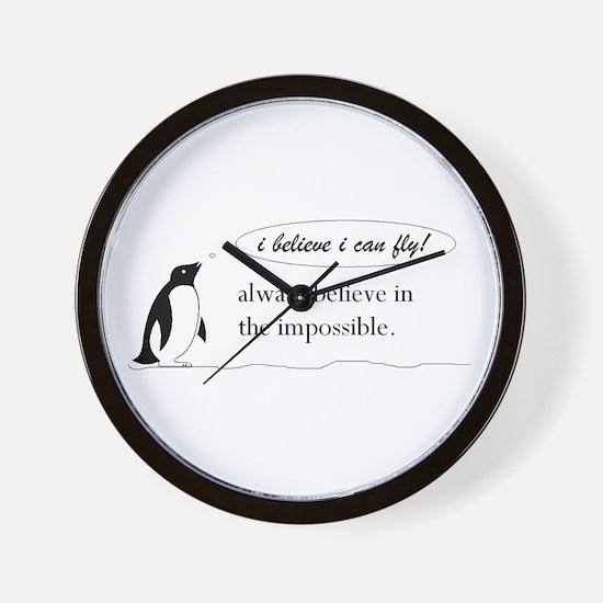 Cute Unique penguin Wall Clock