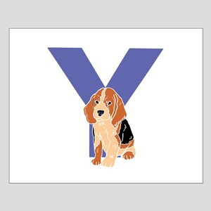 Puppy Letter Y Posters
