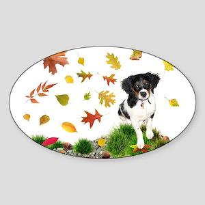 Fall Puppy Sticker