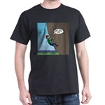 Natural Rock Face Climbing Dark T-Shirt