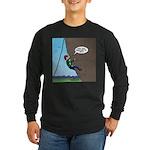 Natural Rock Face Climbin Long Sleeve Dark T-Shirt