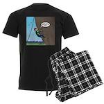 Natural Rock Face Climbing Men's Dark Pajamas