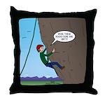 Natural Rock Face Climbing Throw Pillow