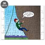 Natural Rock Face Climbing Puzzle