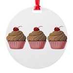 Cute Pink and Brown Cupcake Ornament