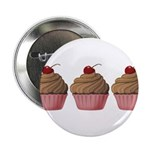 Cute Pink and Brown Cupcake 2.25