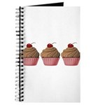 Cute Pink and Brown Cupcake Journal
