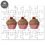 Cute Pink and Brown Cupcake Puzzle