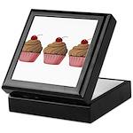 Cute Pink and Brown Cupcake Keepsake Box