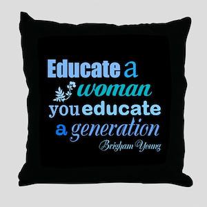 Education Throw Pillow