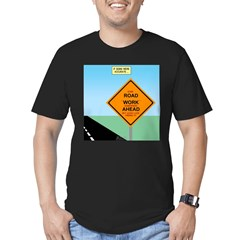 Road Work Ahead Maybe Men's Fitted T-Shirt (dark)