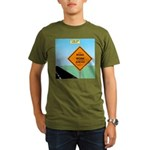 Road Work Ahead Maybe Organic Men's T-Shirt (dark)
