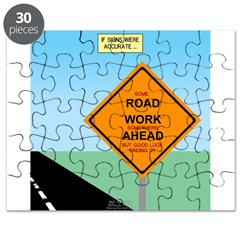 Road Work Ahead Maybe Puzzle
