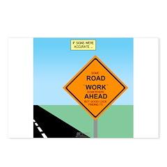 Road Work Ahead Maybe Postcards (Package of 8)