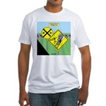 rail road crossing Fitted T-Shirt