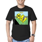 rail road crossing Men's Fitted T-Shirt (dark)
