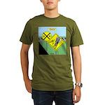 rail road crossing Organic Men's T-Shirt (dark)