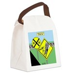 rail road crossing Canvas Lunch Bag