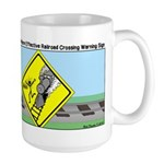 rail road crossing Large Mug