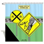 rail road crossing Shower Curtain