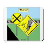 rail road crossing Mousepad