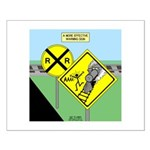 rail road crossing Small Poster